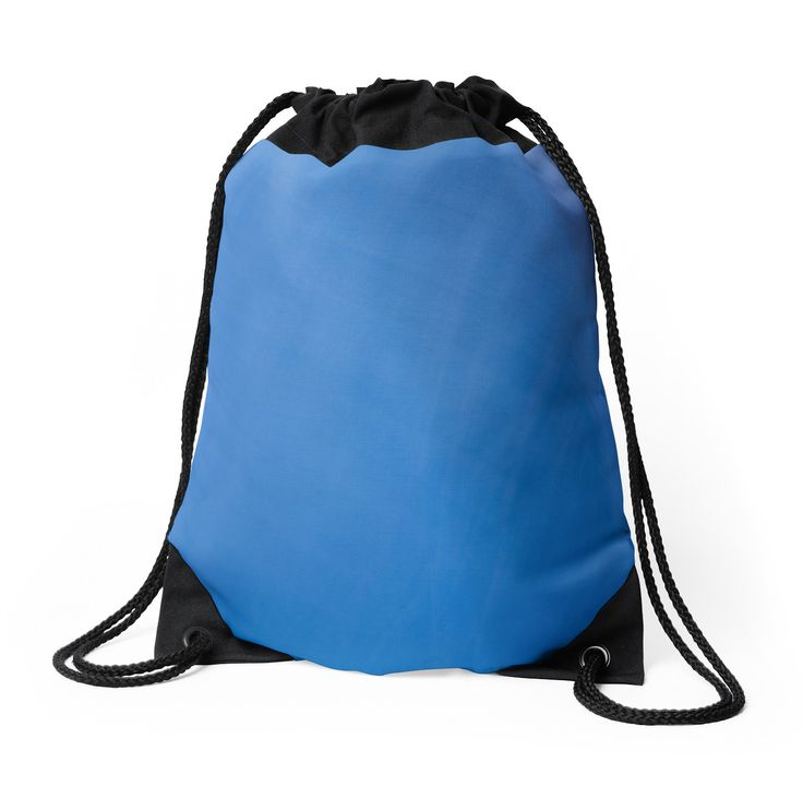 Shades of Blue Abstract Drawstring Bags by Galerie 503