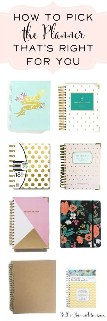 There are so many planner options available but how do you pick the planner that's right for you? Brilliant Business Moms will walk you through 8 completely different planners to show you the pros and cons of each, the different features they have, and help you pick the perfect planner for 2016. Planner Reviews. Simplified Planner, DayDesigner, Rifle Paper Co. Living Well Planner, Happiness Planner, and more   brilliantbusinessmoms.com