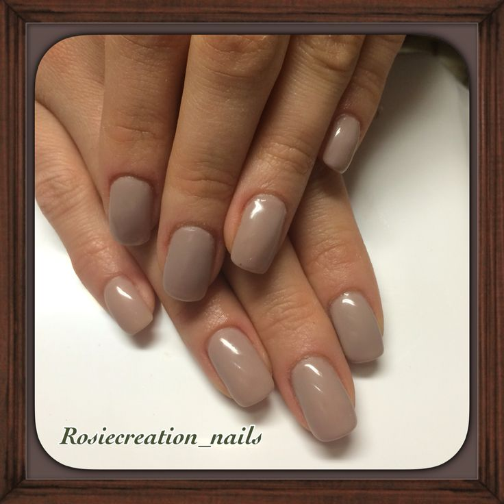 Gel nails , nude colours