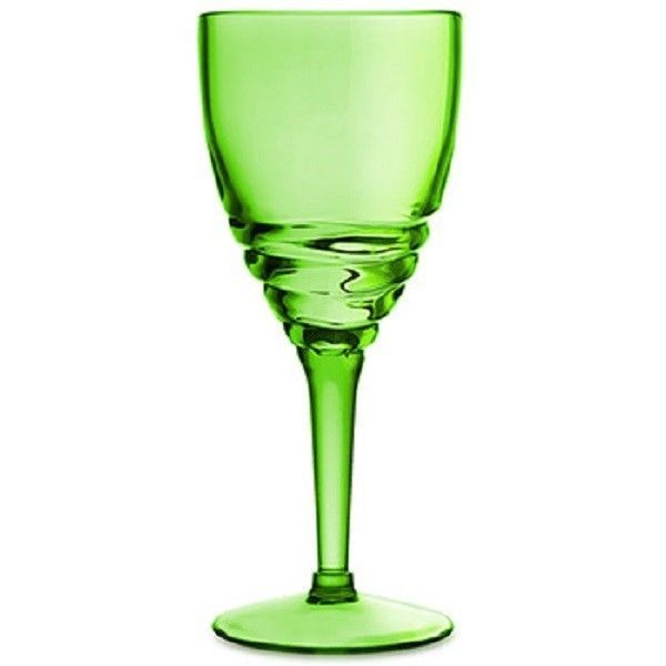 New Swirl Acrylic 14 oz Long Stem WINE GLASS SET OF 4 #Epic
