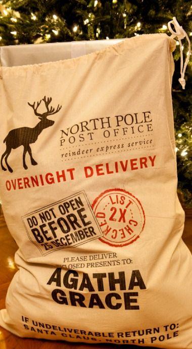 DIY Your Own Santa Sack with Free Printable