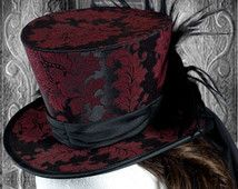Victorian Steampunk Top Hat Millinery PDF Sewing Pattern. Prints on USA letter / A4 Instantly