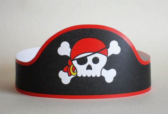 Pirate Paper Crown  Printable by PutACrownOnIt on Etsy, $2.00