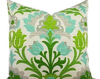 15 % de réduction vente deux coussin extérieur vert couvre - oreillers de Patio verdoyant de 16 x 16 pouces - oreillers extérieurs verts - - canapé coussin Coussin housse scintille
