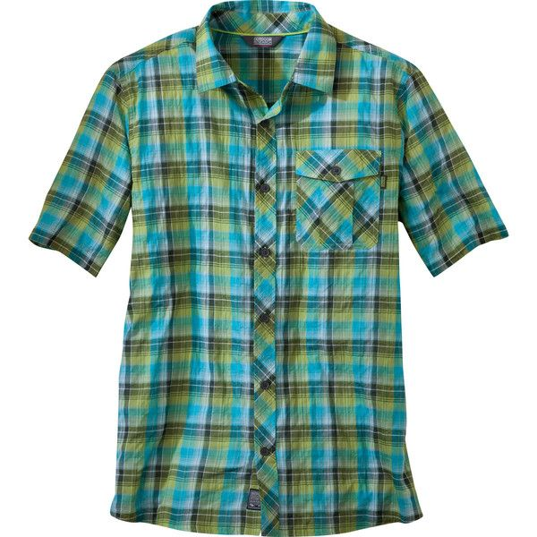Outdoor Research Jinx Shirt ($39) ❤ liked on Polyvore featuring men's fashion, men's clothing, men's shirts, men's casual shirts, mens madras shirts, mens stretch shirts and mens holiday shirts