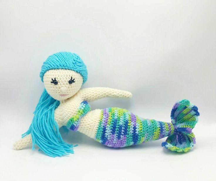 Mermaid Doll | Mermaid Amigurumi | Handmade Mermaid Doll | Crocheted Mermaid Doll | Stuffed Mermaid Toy | Ready to Ship - pinned by pin4etsy.com