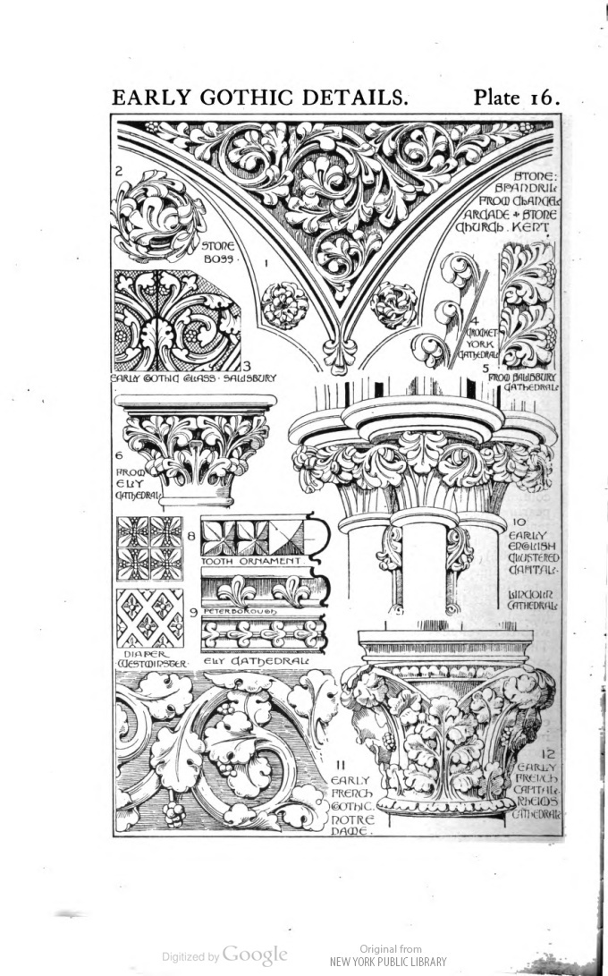 Manual of historic ornament by Richard Glazier image of page 44