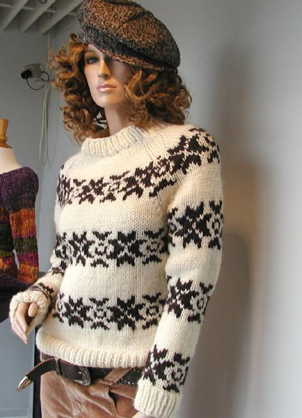 The Sarah Lund sweater kit £47.50 approx. - Danish page & pattern, you will need translate