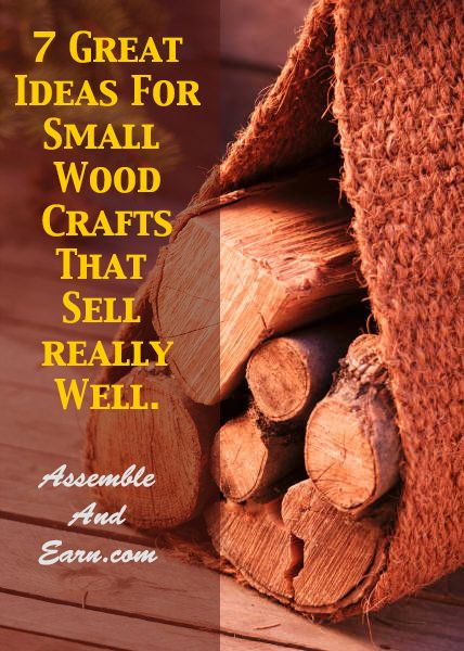 9 ideas for small wood crafts that sell really well. Perfect for the home based woodworking business as they can be made very quickly without the need for expensive woodworking tools.