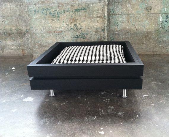 The Low Flat  Handmade modular style dog bed by ModularDog on Etsy, $175.00