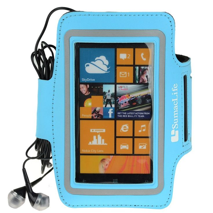 SumacLife Active Sports Workout GYM Running Armband for Nokia Lumia 1020 Nokia Lumia 920 Nokia Lumia 520 Nokia Lumia 925 (Blue-Neoprene). SumacLife custom made neoprene armband for your device /Nokia Lumia 1020 Lumia 920 Lumia 925. Case dimension: 6.3 ×0.5× 3.8 inch.Note :Please check your device dimension whether suit this case before purchasing. Adjustable Armband gives you the versatility of carrying your device in a variety of ways. Provides protection and prevents scratches, chips…