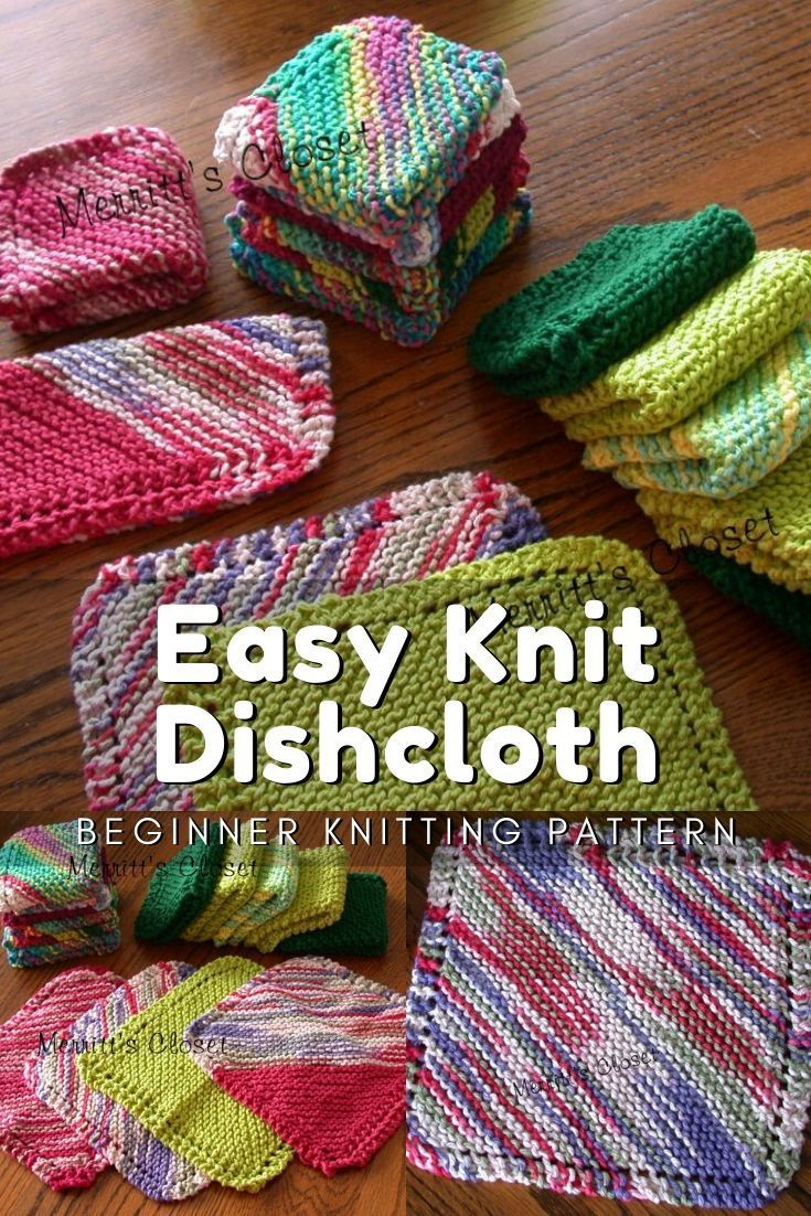 Learn to Knit in 2020 (With images)   Dishcloth knitting ...