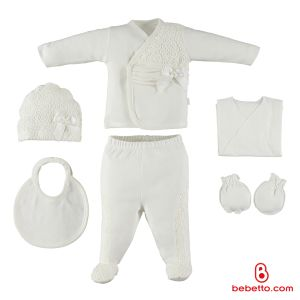 Bebetto - COTTON BABY NEWBORN SET 6 PCS (Pumpkin)