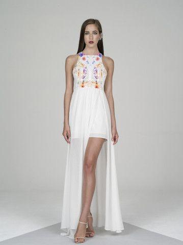 kuku popular dress - white/multi