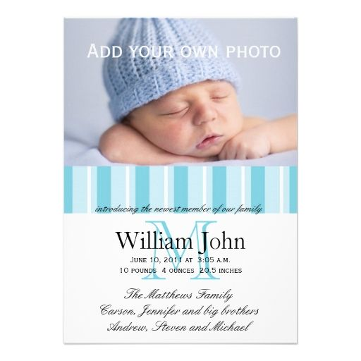 128 best **Baby Birth Announcement Ideas** images on Pinterest ...