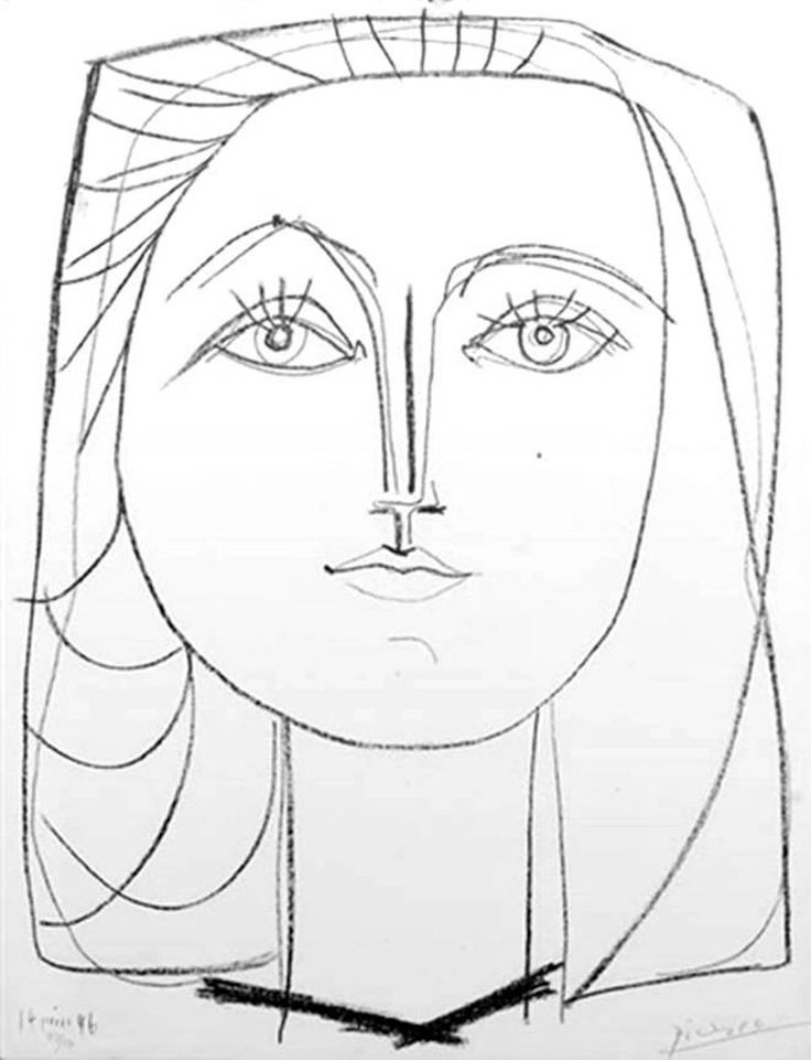 """Pablo Picasso (Spanish, 1881-1973)Francoise 1948 Lithograph on Arches 25.75 x 19.25 inches (65.40 x 48.89 cm)Edition of 50Bloch 398Signed """"Picasso"""" in pencil"""
