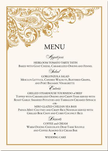Top 25 ideas about Menu Cards on Pinterest | Wedding menu cards ...