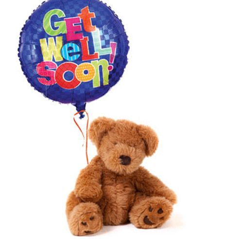 Get Well Balloon And Teddy Bear At Send Flowers Happy Birthday Bear Get Well Balloons Happy Birthday Balloons