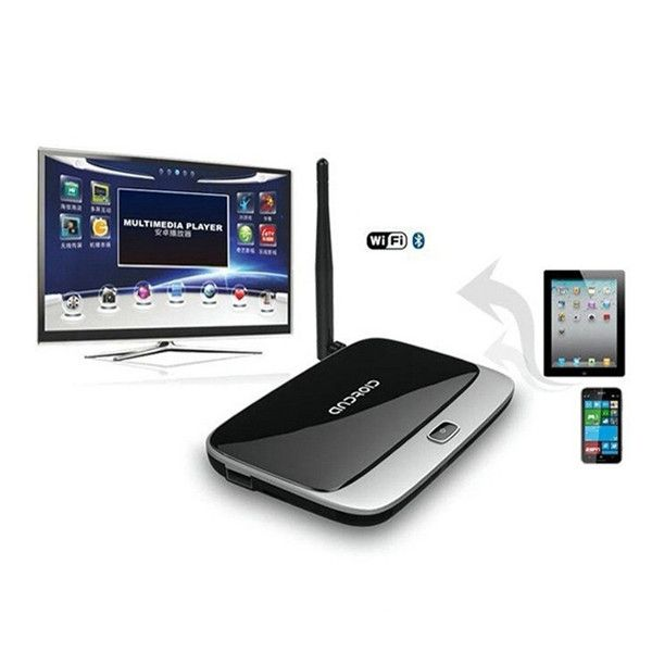 Descriptions:This TV Box is based for Android 4.4.2, 3188t Quad-core, 2G DDR3, 8GB Nand flash.Once connected this item to the HDMI interface of TV,It will converts the regular TV into a Smart TV which works like a giant tablet. Specifications:Model:CS918Operating System: for Android 4.4.2Processer: 3188t Quad-core Cortex A9 1.4GHzGPU:Quad-core Mali-400Memory:2GB DDR3Internal Storage:8GB NAND FlashWi-Fi:802.11 b/g/n ...