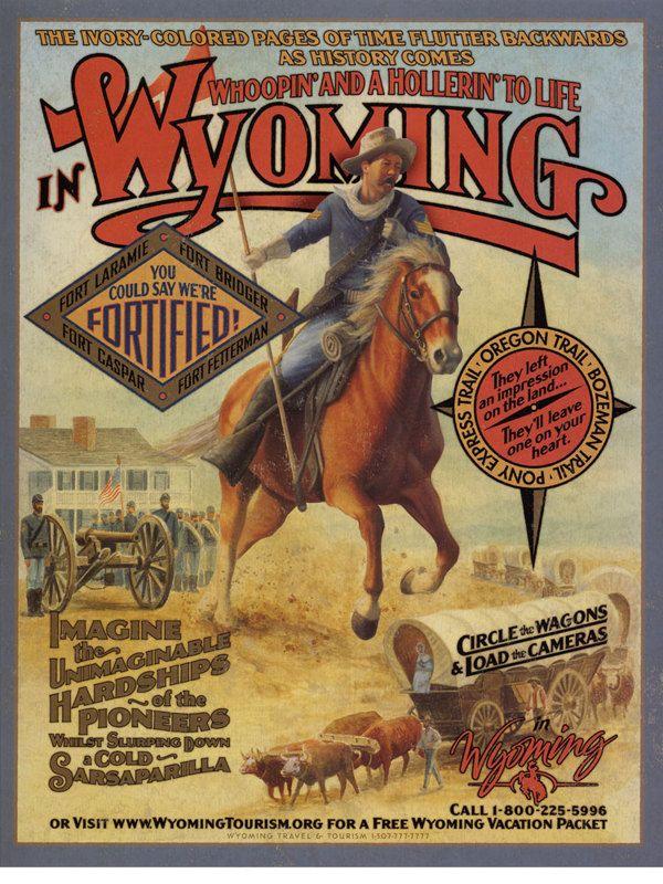 Wyoming Tourism Print by Tom Van Ness, via Behance