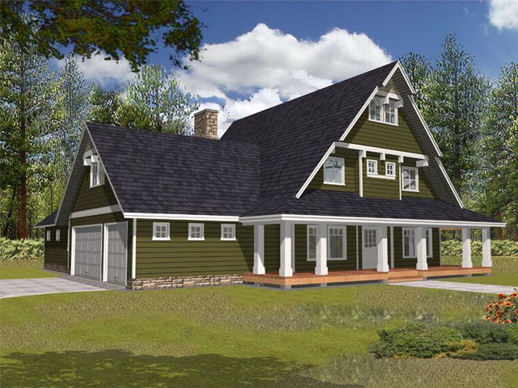 a frame house plans with garage