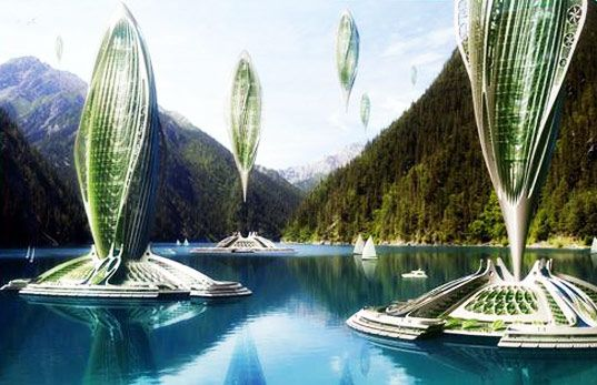 These floating algae-powered cities are also capable of lifting off into the sky.