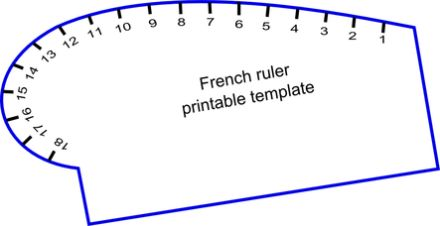 Versatile image with printable french curve