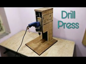 Making a Mini Drill Press - Router Table -Spindle Sander (All in One) Çok Fonksiyonlu Dremel Tezgahı - YouTube