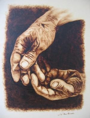 manos en negativo
