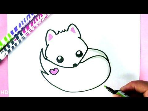 How to Draw Rainbow Cute Panda Unicorn EASY - Como Dibujar una panda kawaii facil - YouTube