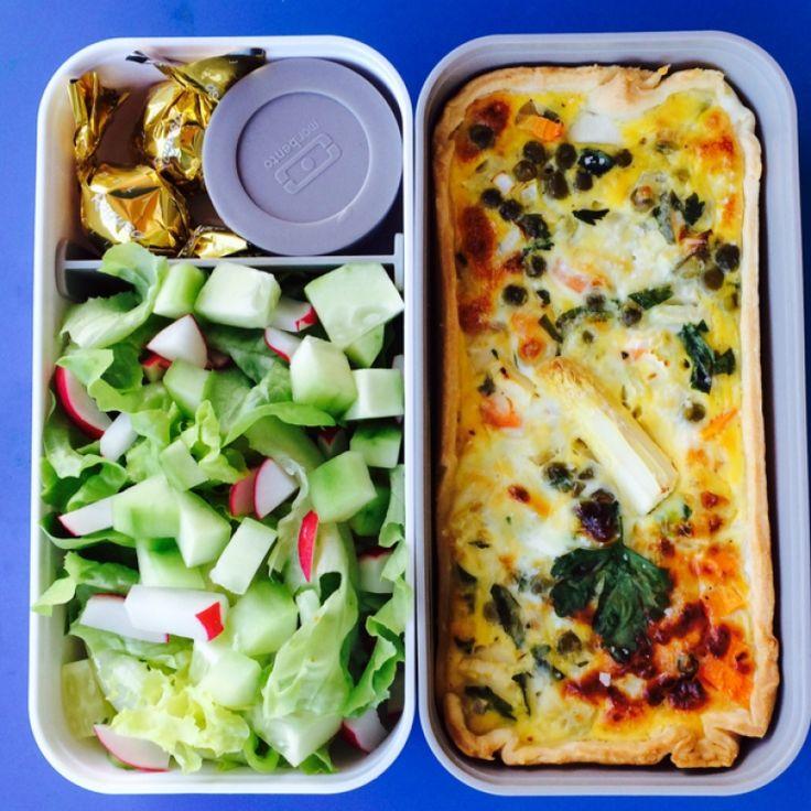 Monbento | tarte bento: spring veggie tarte, salad with