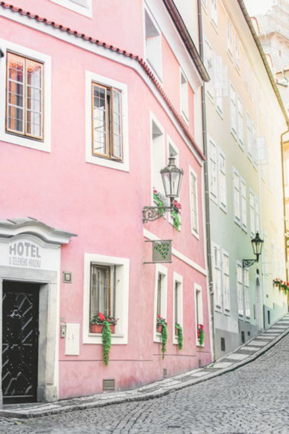 Prague Print Blush Pink Decor Pink Wall Art Fine Art Photography Pink Wall Decor Europe Travel Wall Art Pink Wall Art Travel Wall Art Pink Wall Decor