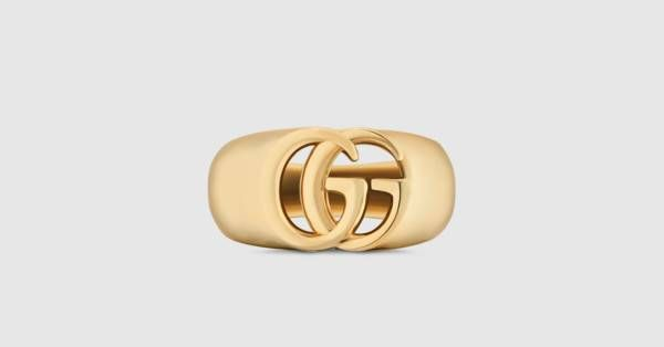 9bc9c1068153c Gucci GG Running yellow gold chevalier ring