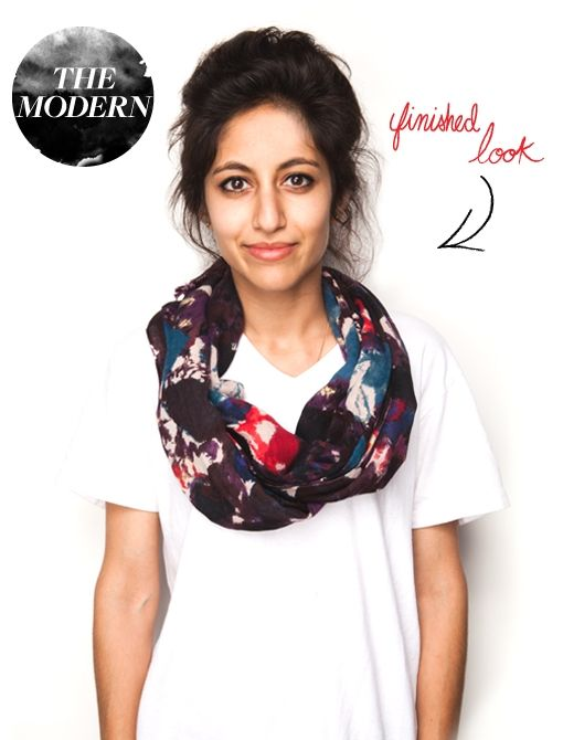 Ways to style scarves with tutorials