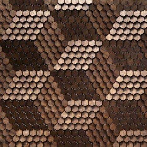 hexagonal honey comb wall covering