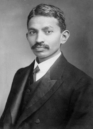 * Mohandas Gandhi *  London, c.1889.