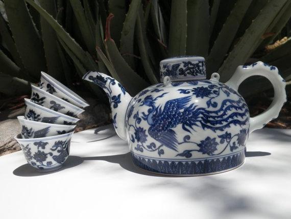 Beautiful Vintage Asian Tea Set by DesertBlossomVintage on Etsy, $18.00