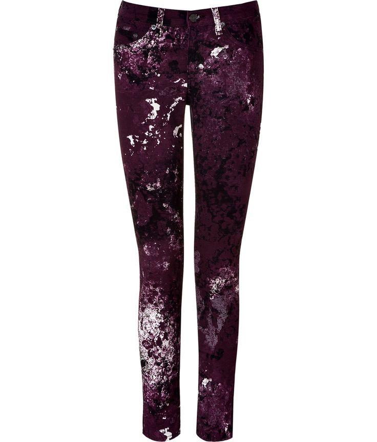 SEE DETAILS HERE:Purple Splash Painted Skinny Pant