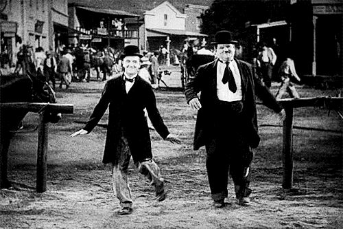Laurel and Hardy. One of my favorite scenes