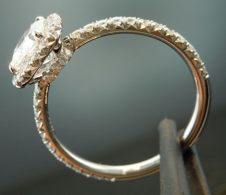 diamond halo ring diamonds by lauren cushion cut crushed ice To Wed