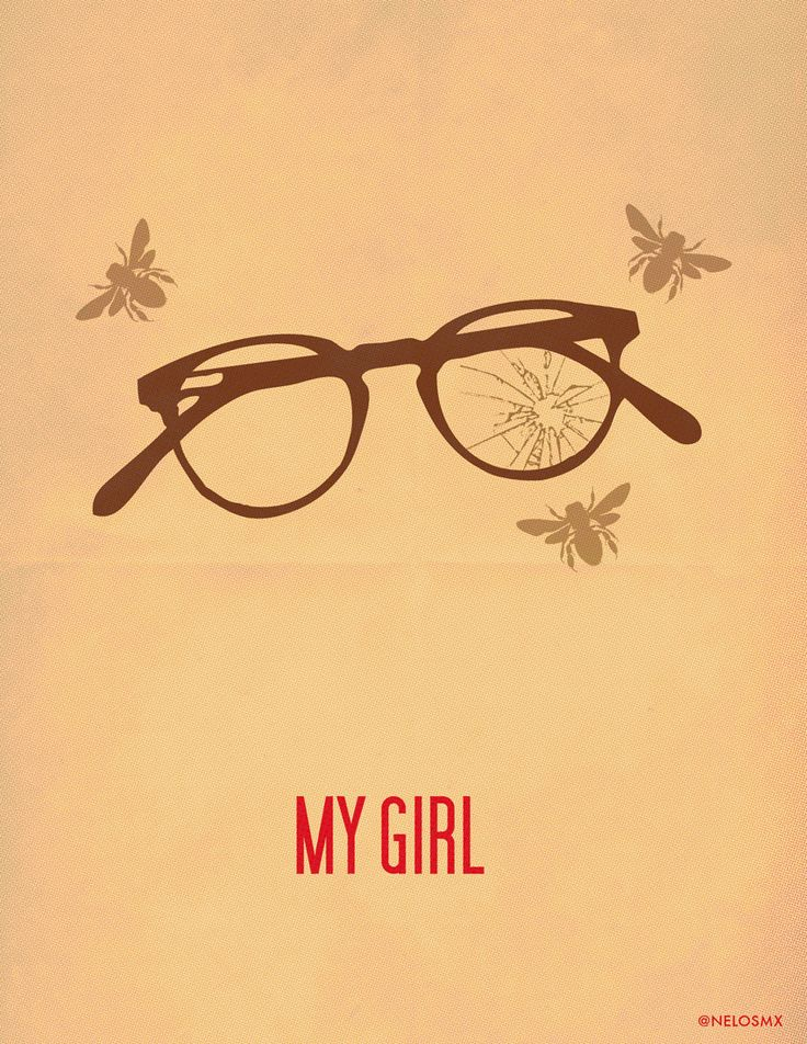 My Girl (1991) - Minimal Movie Poster by Alejandro Cisneros #minimalmovieposters #alternativemovieposters #alejandrocisneros