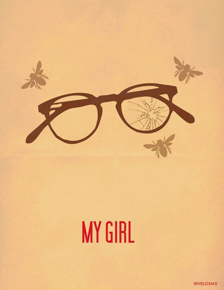 My Girl (1991) - Minimal Movie Poster by Alejandro Cisneros #minimalmovieposters #alternativemovieposters #alejandrocisneros