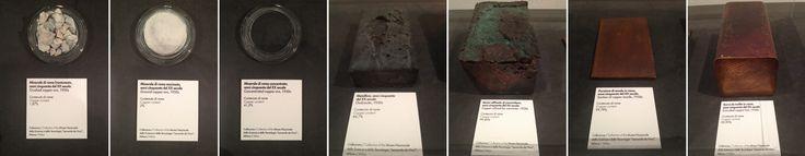 """Copper concentration samples.  Museo nazionale di scienza e tecnologia """"Leonardo da Vinci"""", Milano"""