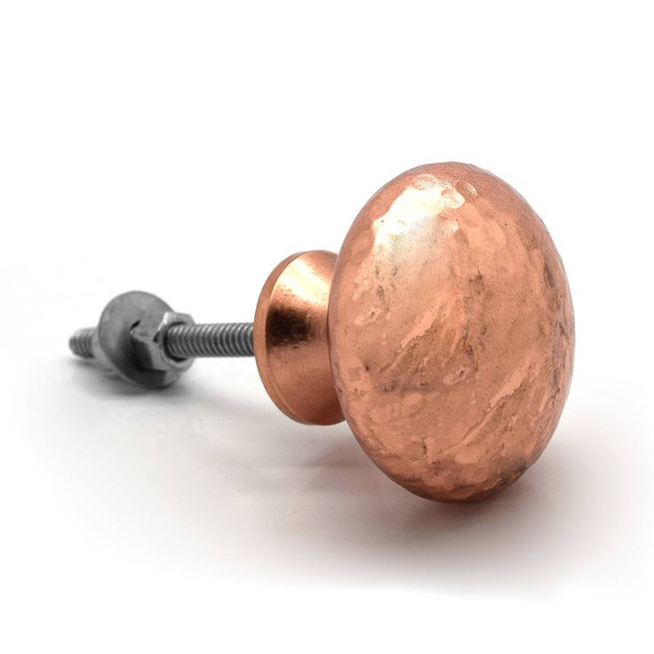 copper hammered cupboard door knobs by pushka home | notonthehighstreet.com