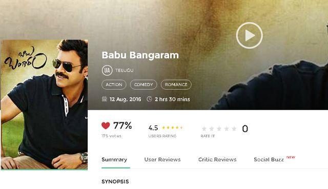 Babu Bangaram Full Movie Download