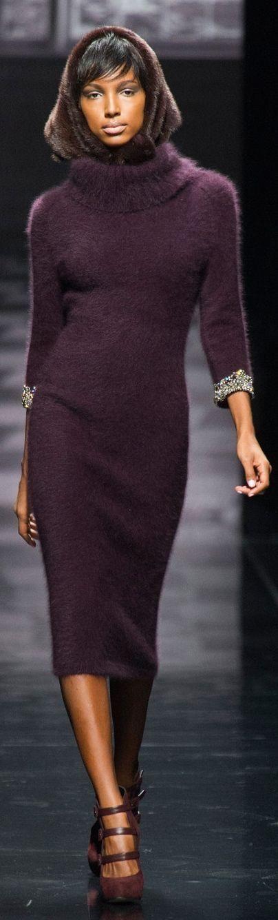 Aubergine Sweater dress