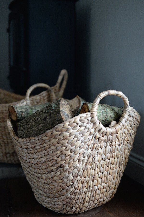Woven Basket With Handles - The Forest & Co.
