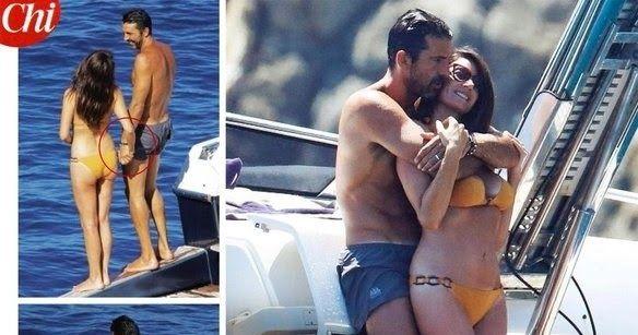 «Καυτά» στιγμιότυπα του G.Buffon με τη σύντροφο του πάνω σε σκάφος (φωτό)