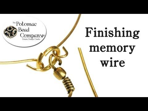 How to Finish Memory Wire with a dangle (charm)  #Beading #Jewelry #Tutorials