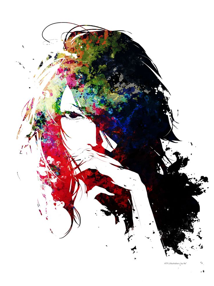 Illustration art girl